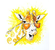 Funky Giraffe Photographic Print