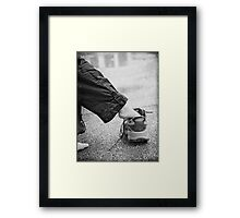A Big Shoe to Fill... Framed Print