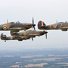 Hawker Hurricane Over Kent  by Mike Rivett