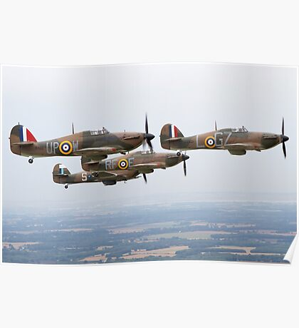 Hawker Hurricane Over Kent  Poster