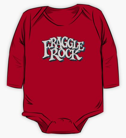 Fraggle Rock Vintage Style in WHITE  One Piece - Long Sleeve