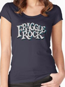 Fraggle Rock Vintage Style in WHITE  Women's Fitted Scoop T-Shirt