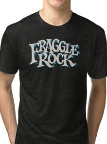 Fraggle Rock Vintage Style in WHITE  Tri-blend T-Shirt