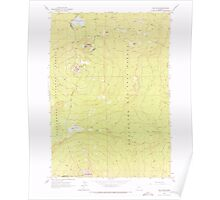 USGS Topo Map Oregon The Twins 281790 1963 24000 Poster