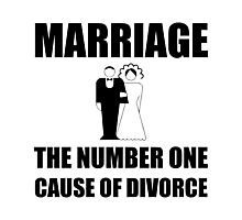 Marriage Cause Of Divorce Photographic Print