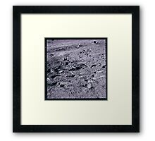 Apollo Archive 0109 Moon Footprints and Equipment on Lunar Surface Framed Print