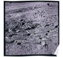 Apollo Archive 0109 Moon Footprints and Equipment on Lunar Surface Poster