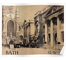 Rare Bath Vintage Travel Poster Restored Poster