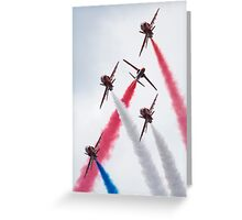 Red Arrows - Twister Greeting Card
