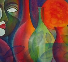 Mask with still life by Karin Zeller