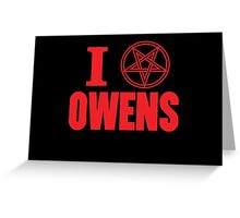 Hail Owens Pentagram Greeting Card
