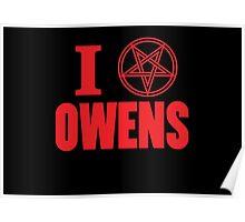 Hail Owens Pentagram Poster