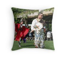 lady traditional dancers Throw Pillow
