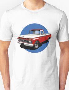 1966 Ford F100 Custom Cab - Red & White T-Shirt