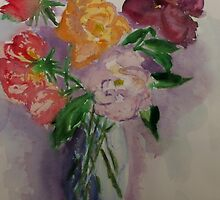 Mary Bendeich's roses (from the garden) by Margaret Morgan (Watkins)