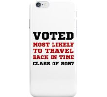 Voted Time Travel iPhone Case/Skin