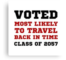 Voted Time Travel Canvas Print