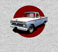 1966 Ford F100 Custom Cab - Light Blue & White Unisex T-Shirt