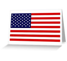 Stars and Stripes of USA Greeting Card