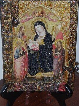 Madonna & Child with Saints. Homage to Agnolo Gaddi 2. by Ian A. Hawkins