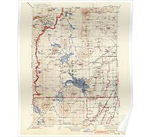 USGS Topo Map Oregon Maiden Peak 283199 1934 125000 Poster