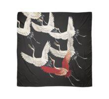 Scarf version of Wild cranes in Black Scarf
