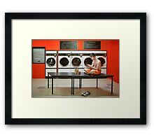 The Laundromat Framed Print