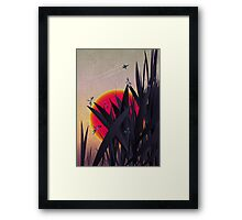 Red Heat (with Dragonflies) Framed Print