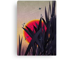Red Heat (with Dragonflies) Canvas Print