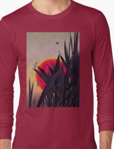 Red Heat (with Dragonflies) Long Sleeve T-Shirt