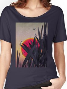 Red Heat (with Dragonflies) Women's Relaxed Fit T-Shirt