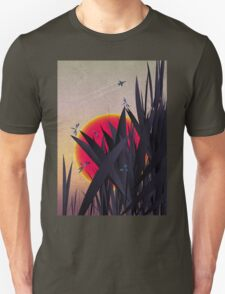 Red Heat (with Dragonflies) Unisex T-Shirt