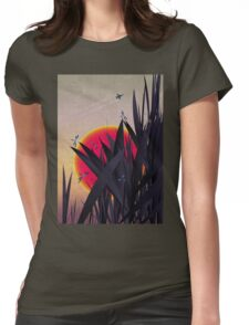 Red Heat (with Dragonflies) Womens Fitted T-Shirt
