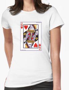 Freddie Mercury Queen Card Womens Fitted T-Shirt