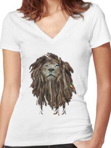 Lion Of Judah Women's Fitted V-Neck T-Shirt