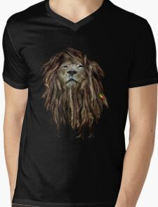 Lion Of Judah Mens V-Neck T-Shirt
