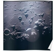 Apollo Archive 0049 Moon Craters From Orbit Poster