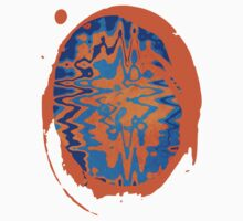Blue and Orange Abstract Painting Kids Clothes