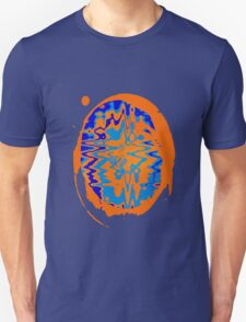 Blue and Orange Abstract Unisex T-Shirt