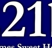 221b - Holmes Sweet Home Sticker