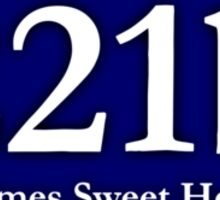 221b - Holmes Sweet Home Sticker