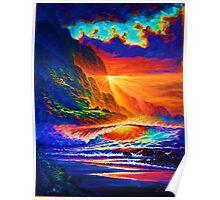 Napali Coast Sunset Poster