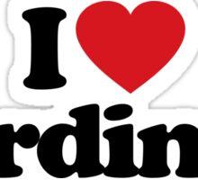 I Love Heart Cardinals Sticker Sticker
