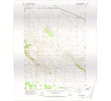 USGS Topo Map Oregon Millican SE 280744 1966 24000 Poster
