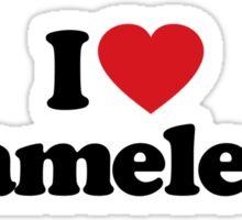 I Love Heart Chameleons Sticker Sticker