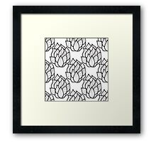 Abstract hand-drawn pattern with waves Framed Print
