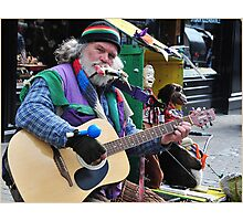 Dan the Busker, Ireland. Photographic Print