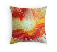 Abstract Fluid Explosion Throw Pillow