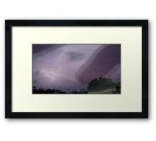 Static Shock Framed Print