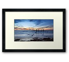 Old Port Willunga Jetty Framed Print